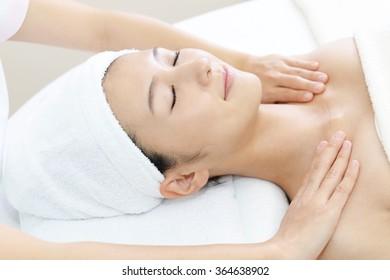 Woman getting a body massage