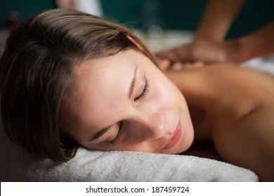 Woman getting a relaxing massage