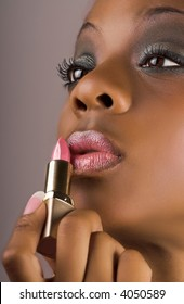 woman with glamour lips