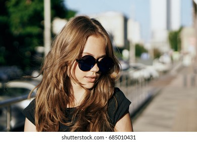 Woman in glasses portrait
