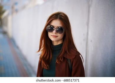 Woman in glasses portrait