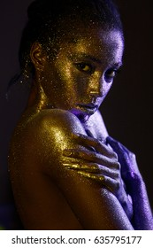 woman with glitter and spangle (shallow DOF)