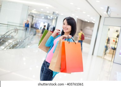 Woman go shopping in Shopping mall