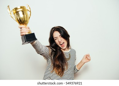 Woman with a golden cup