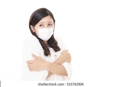 Woman got a cold