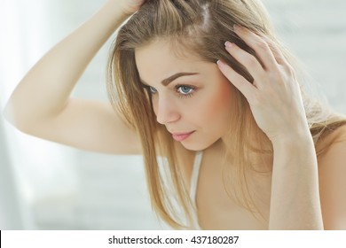 Woman with hair problem
