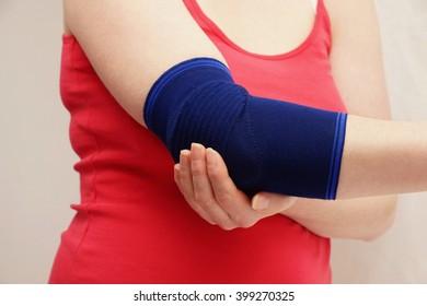 Woman hand and bandage