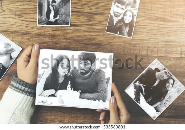 woman hand couple photos
