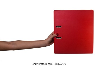 Woman hand with folder