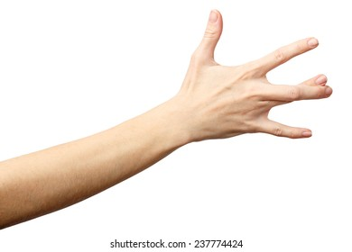 Woman hand on Isolated white background. EAST SIDE. Alpha. East side.