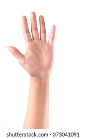 Woman hand raised up