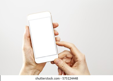Woman hands holding phone