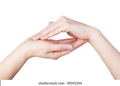 Woman hands isolated