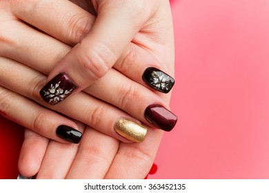 Woman hands with manicure