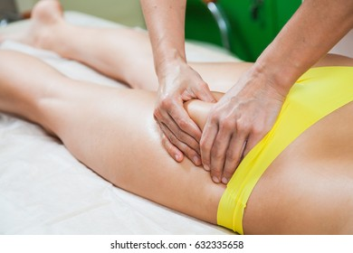 Woman hands massaging female body. Spa health care relax concept
