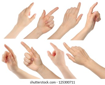 Woman hands on white background - Shutterstock ID 125300711