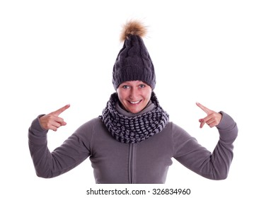 Woman is happy about your knitted hat
