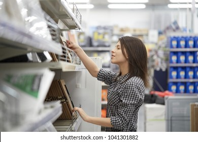 woman at hardware store