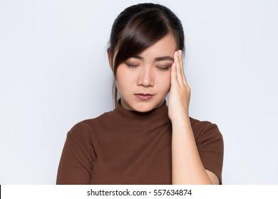Woman has headache