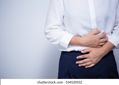 Woman has stomach ache