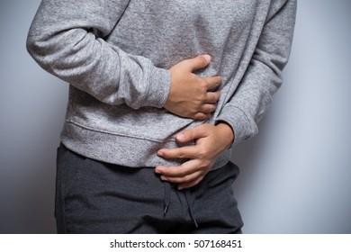 Woman has stomachache