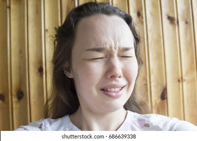 A woman has a toothache