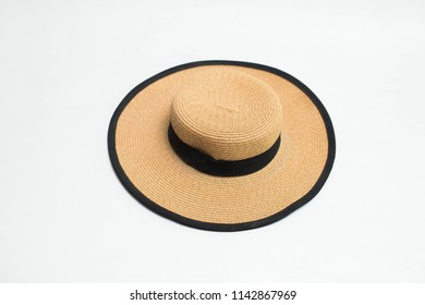 woman hat with black isolated on white background