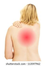 Woman having a backache