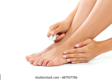 woman having a foot treatment