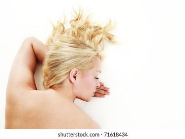 Woman having a spa