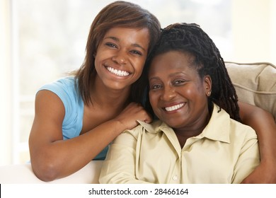 Woman With Her Teenage Daughter