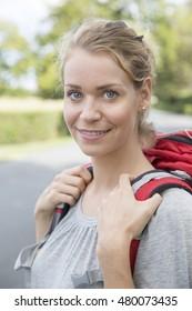 woman hitchhiker