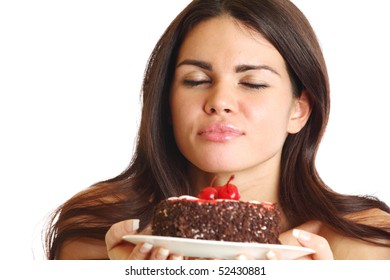woman hold cake