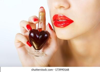 woman holding elixir of Love