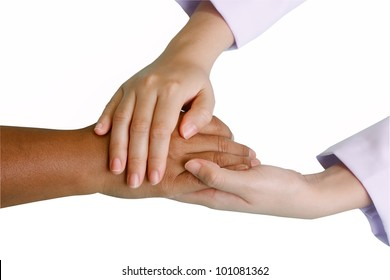 woman Holding Hands with doctor