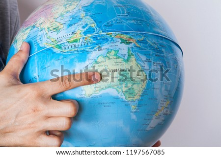 World Map On Hands.Woman Holding World Map Hands Stock Photo Edit Now 1197567085