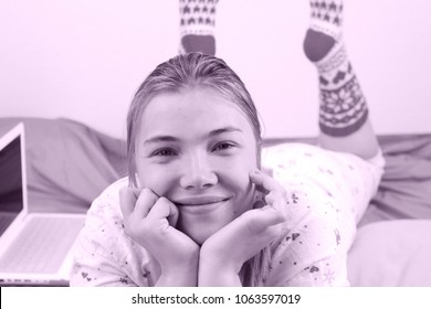 Woman at home, Day off, Smiling face, Pink photostyle, Happy people, Hobby, Healthy and happy, Sweet home
