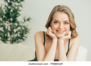 Woman at home relax on sofa