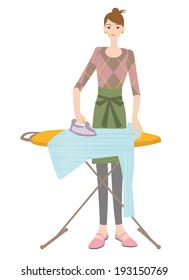 Woman to ironing