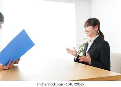 Woman job interview image