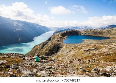 A woman in Jotunheimen, Norway