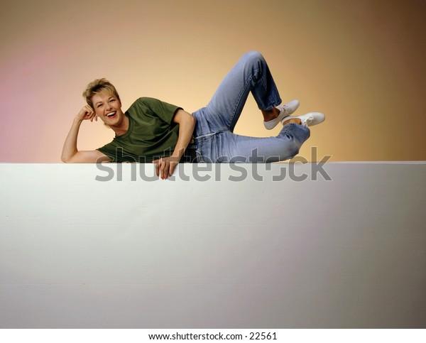 Woman kicking up her heels