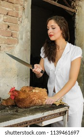 Woman Kill Chicken Images, Stock Photos & Vectors | Shutterstock