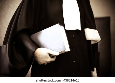 Woman lawyer with book