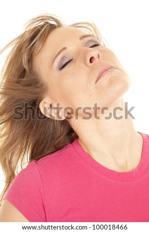 d5d04c6ea1b7 Woman Leaning Her Head Back Wind Stock Photo (Edit Now) 100018466 ...