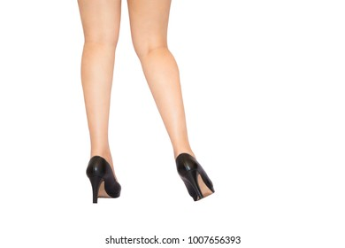 woman legs with shoes