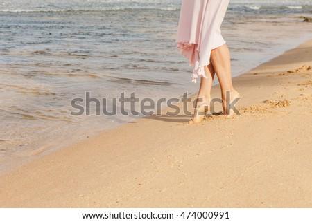 431c57aab ... Stock Photo (Edit Now) 474000991 - Shutterstock. Woman legs walking on  the beach sand