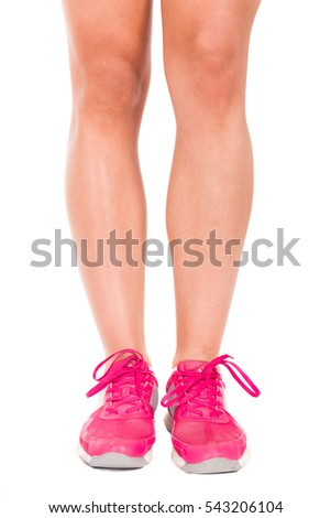 67ed2cff4d Woman Legs Wearing Sport Shoes Isolated Stock Photo (Edit Now ...