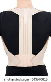 woman with light posture corrector