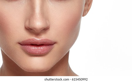 Woman lips and nose